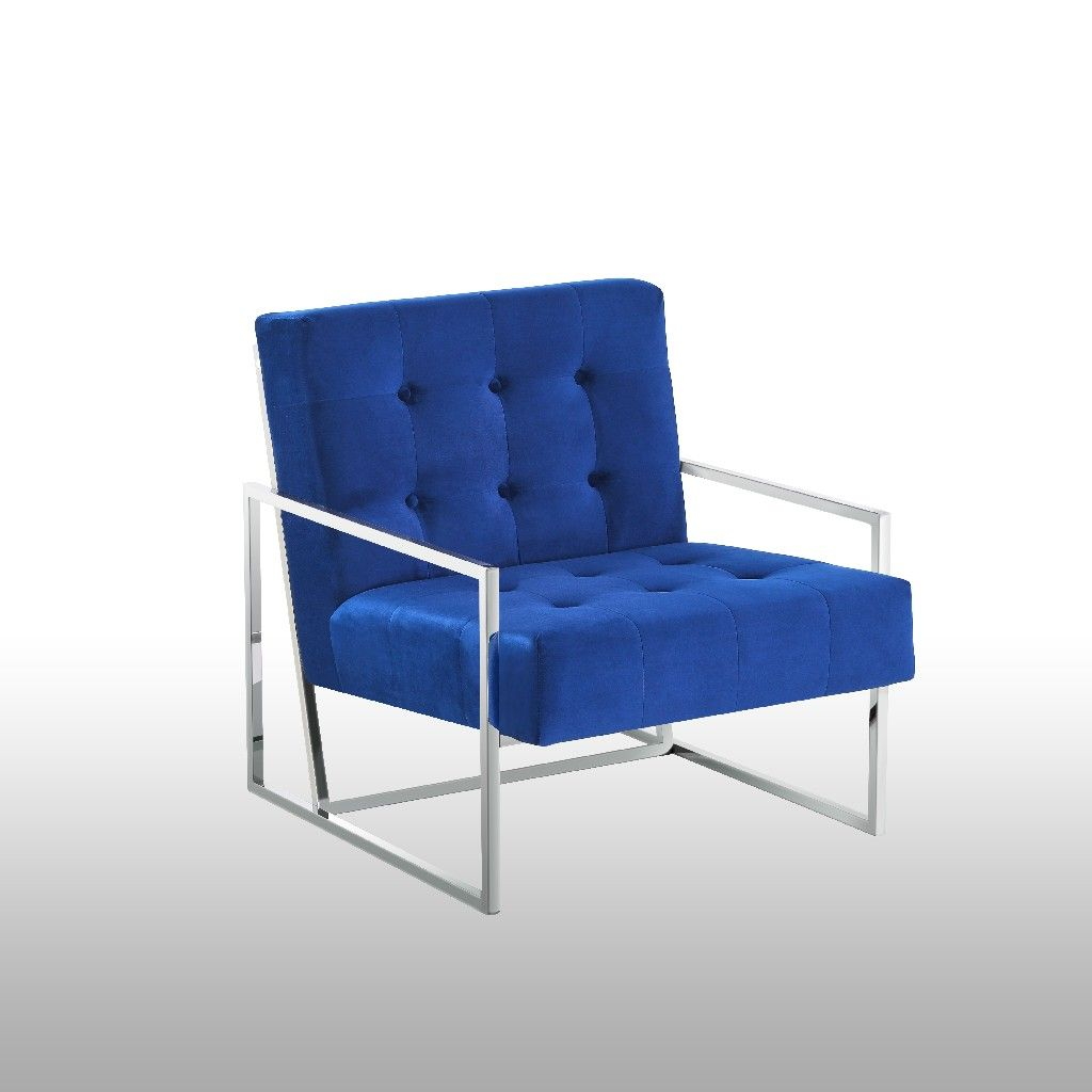 Picture of: Beethoven Blue Velvet W Silver Plated Accent Chair Best Master Furniture 229 Bn4006bs