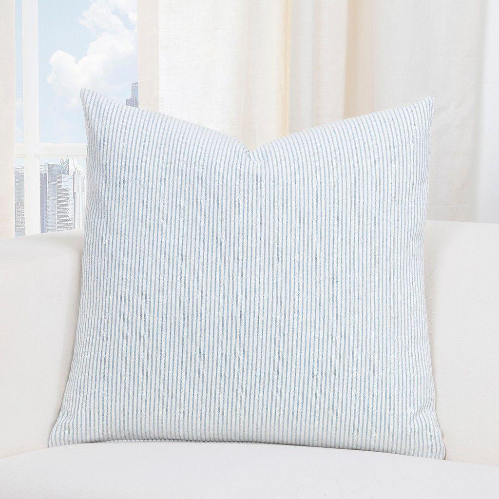 Heritage Blue Farmhouse 16 Designer Throw Pillow Siscovers Hebl P17