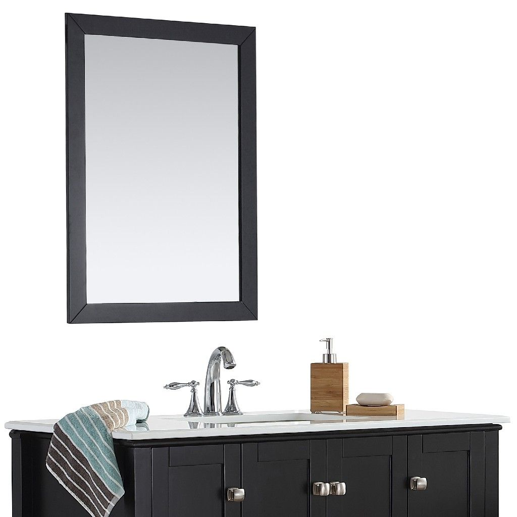 Chelsea 32 Inch X 34 Inch Bath Vanity Decor Mirror In Midnight Black Simpli Home Axcmrcheb 3234
