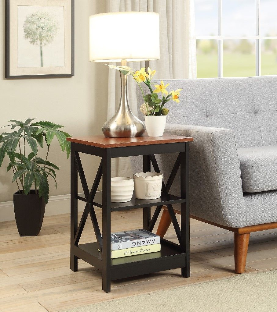 Convenience Concepts Oxford End Table Black Cherry