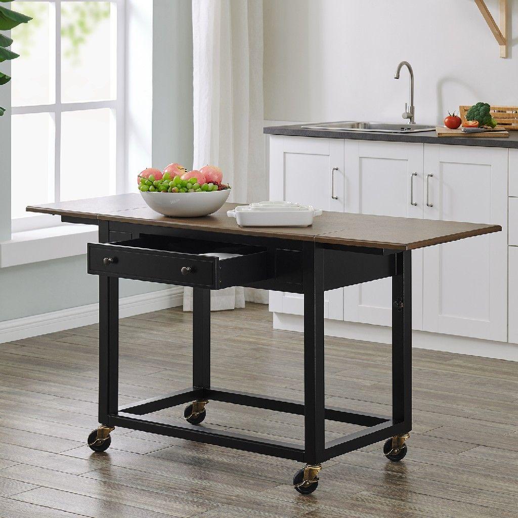 Claredale Drop Leaf Kitchen Cart Southern Enterprises Ka3618