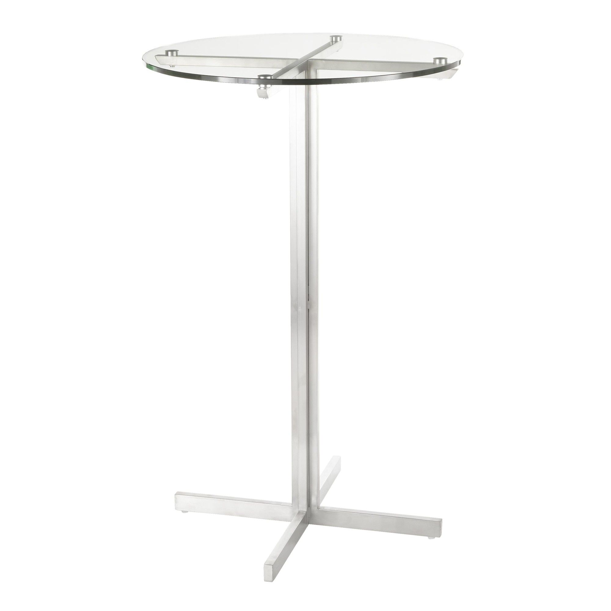 Round Bar Table In Stainless Steel