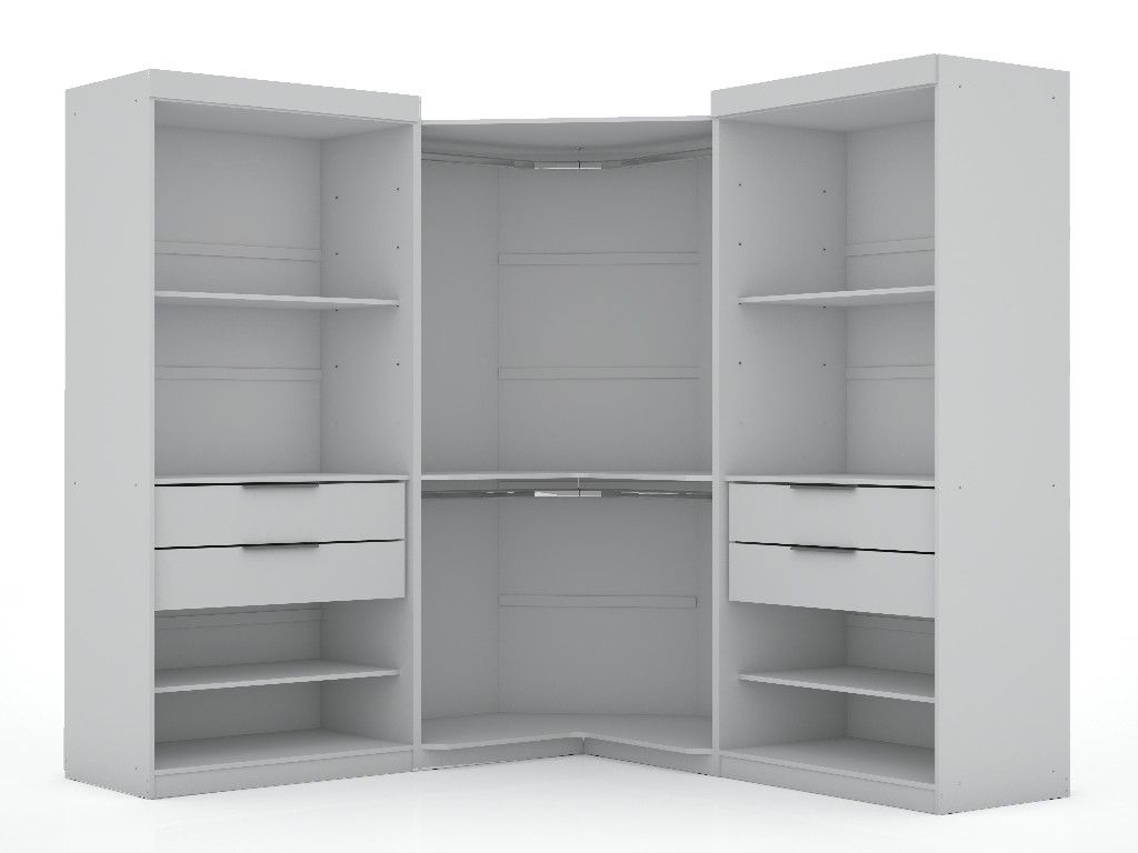 white wardrobe with drawers