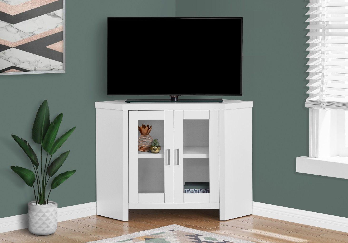 """42/"""" Monarch Specialties Corner TV Stand"""