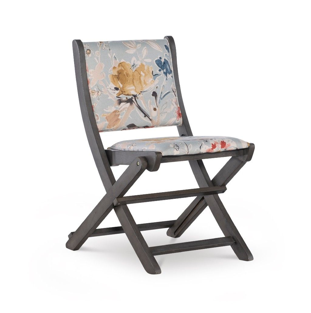 Amberley Folding Chair Grey Floral In Grey Powell D1198d18