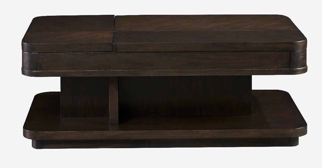 Grove Park Rectangular Double Lift Cocktail Table In Chocolate Mahogany Progressive Furniture T631 01