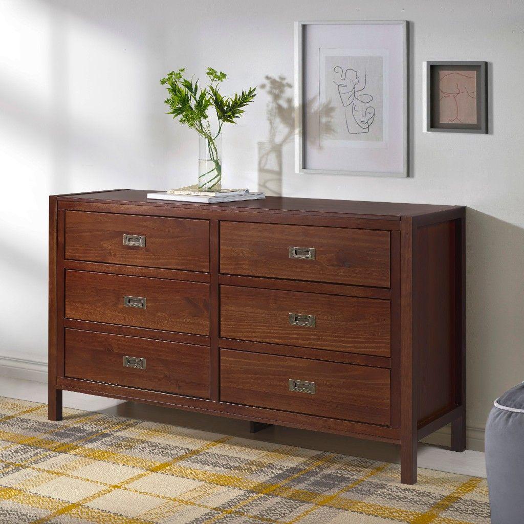 57 Clic Solid Wood 6 Drawer Dresser