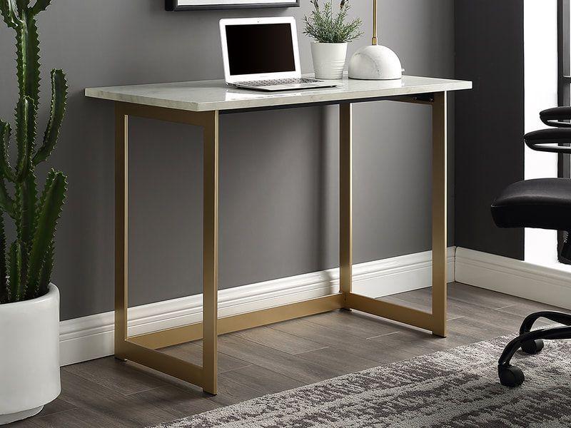 42 Modern Faux Marble Computer Desk In