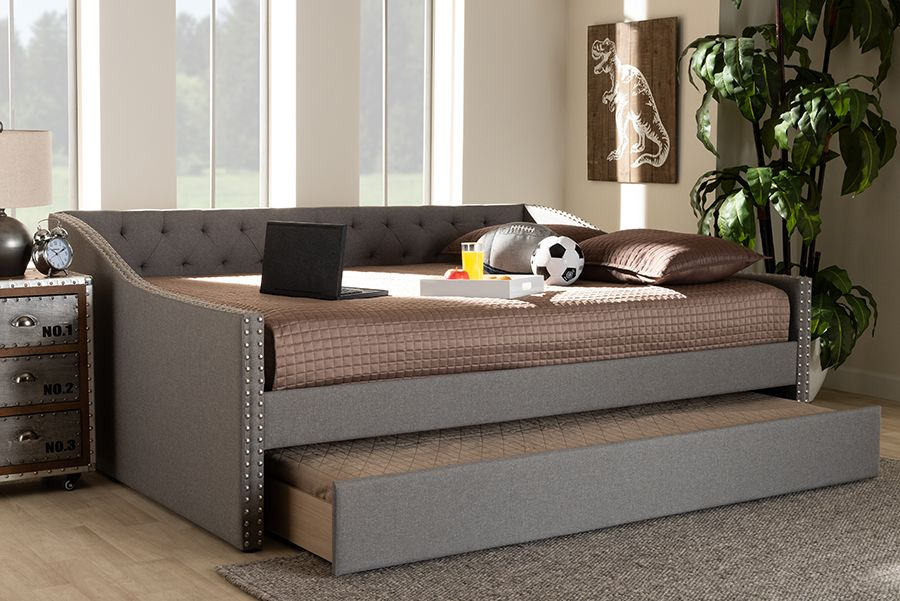 Baxton Studio Haylie Modern And, Daybed Queen Size Bed