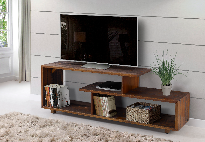 60 Rustic Modern Solid Wood Tv Stand Console Entertainment Center In Amber Walker Edison W60rswam