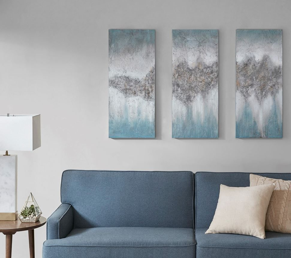 Madison Park Luminous Hand Painted Canvas In Blue Olliix Mp95c 0155
