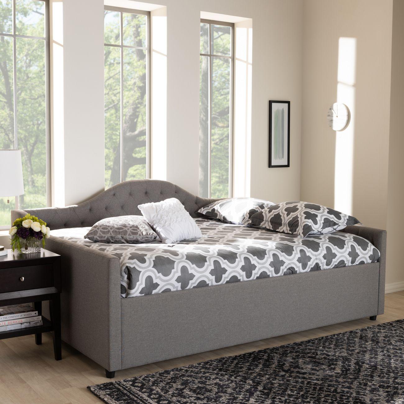 - Baxton Studio Eliza Modern & Contemporary Grey Fabric