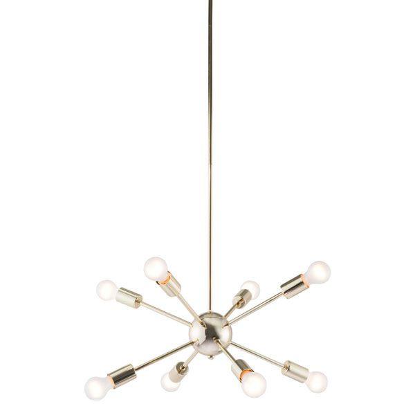 Pilsner Ceiling Lamp Gold Zuo Modern