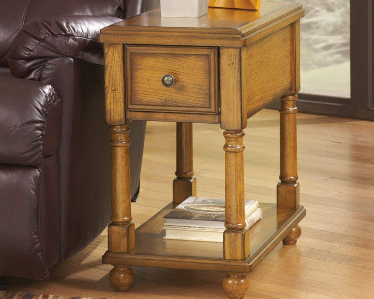 signature design breegin chair side end table - ashley furniture t007-430