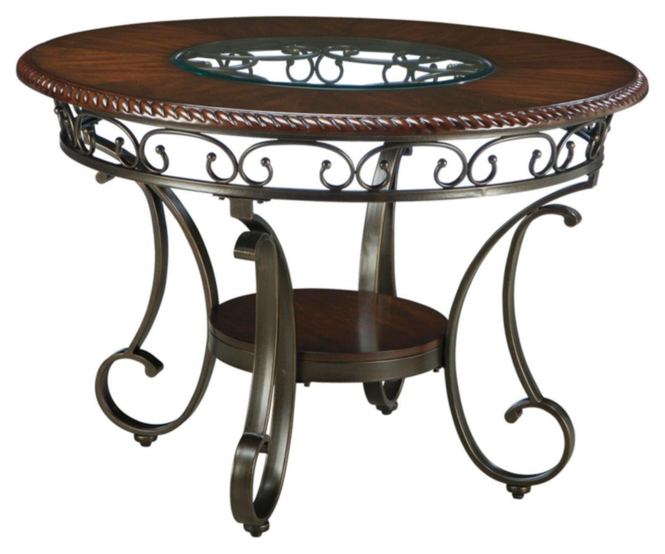 Signature Design Glambrey Round Dining Room Table Ashley Furniture D329 15