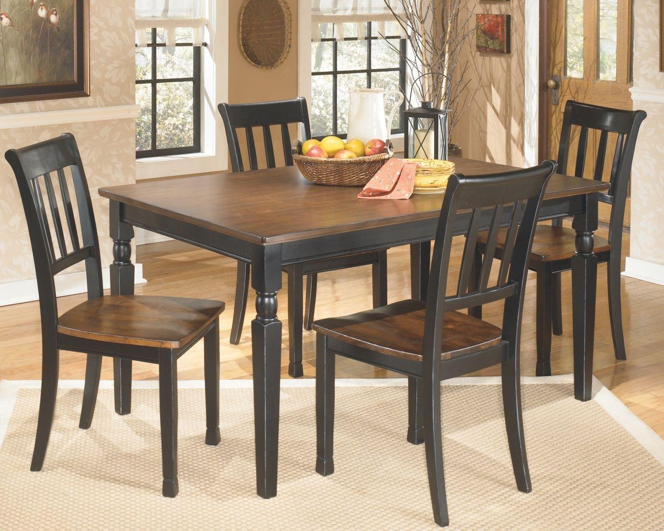 Signature Design Owingsville Rectangular Dining Room Table Only Ashley Furniture D580 25