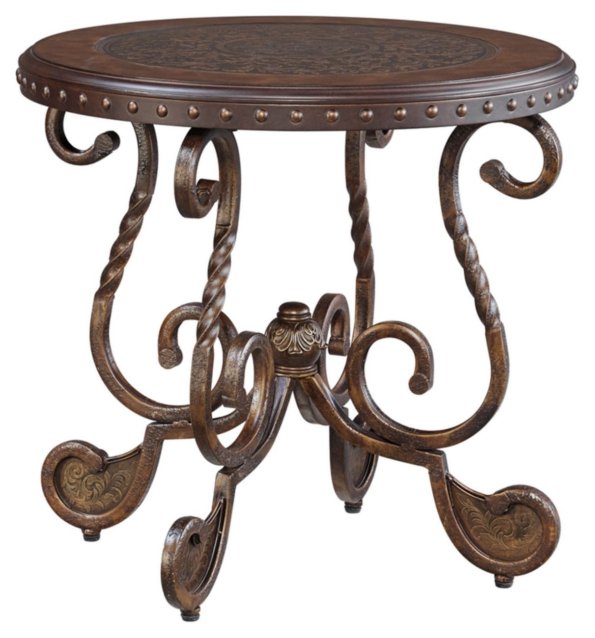 Signature Design Rafferty Round End Table Ashley Furniture T382 6