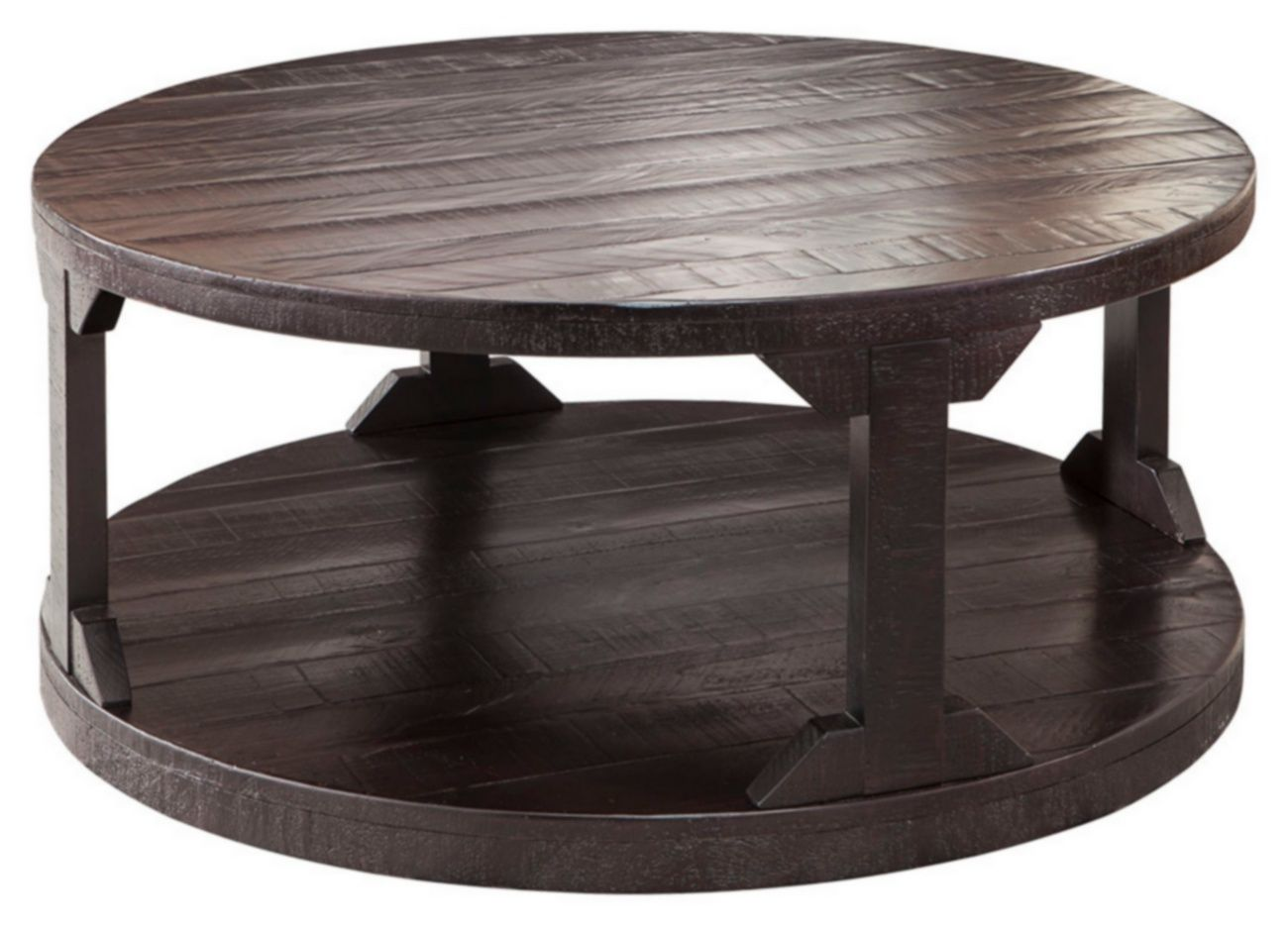 Signature Design Rogness Round Cocktail Table Ashley Furniture T745 8