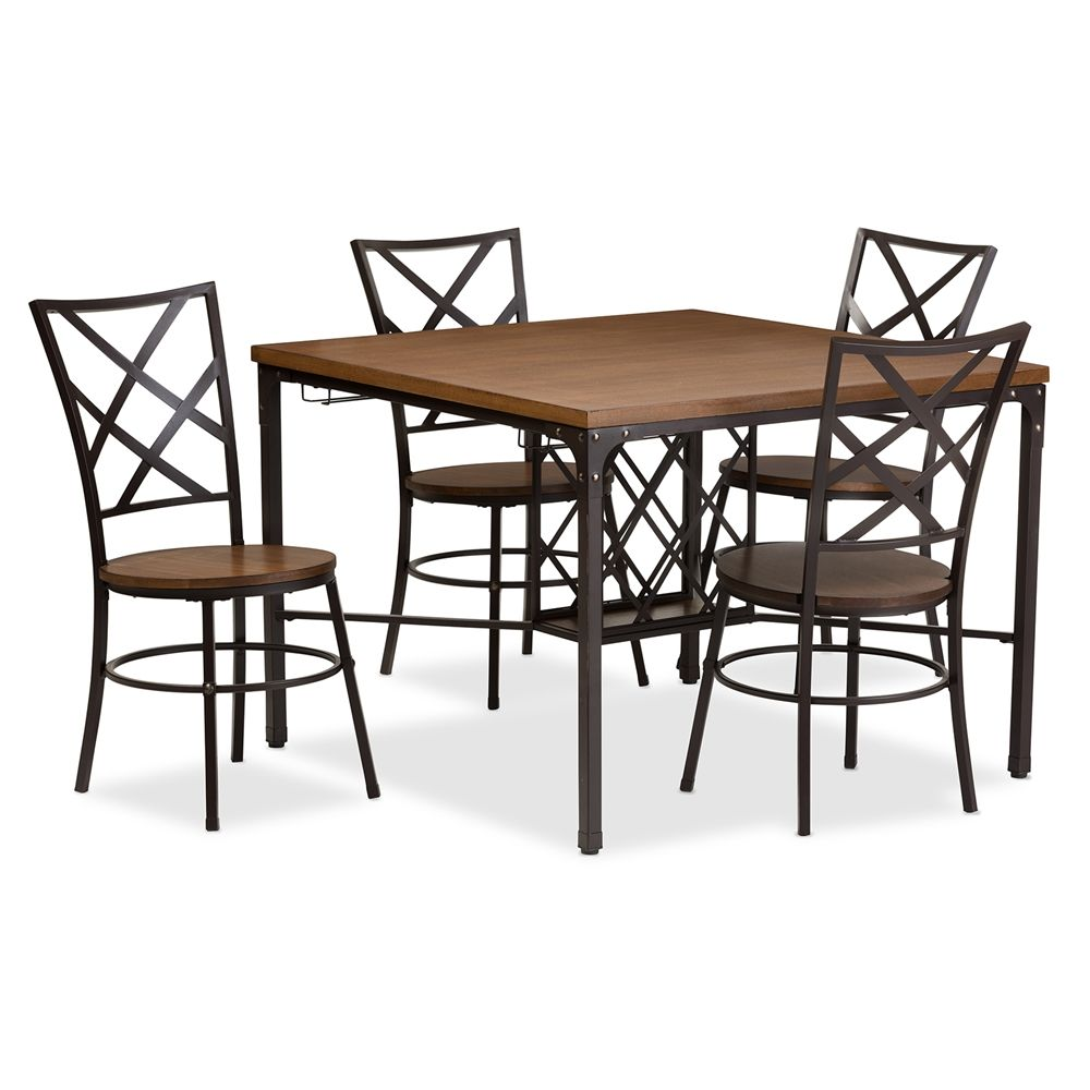 Baxton Studio Vintner Dining Set Cdc252 5pc Dining Set