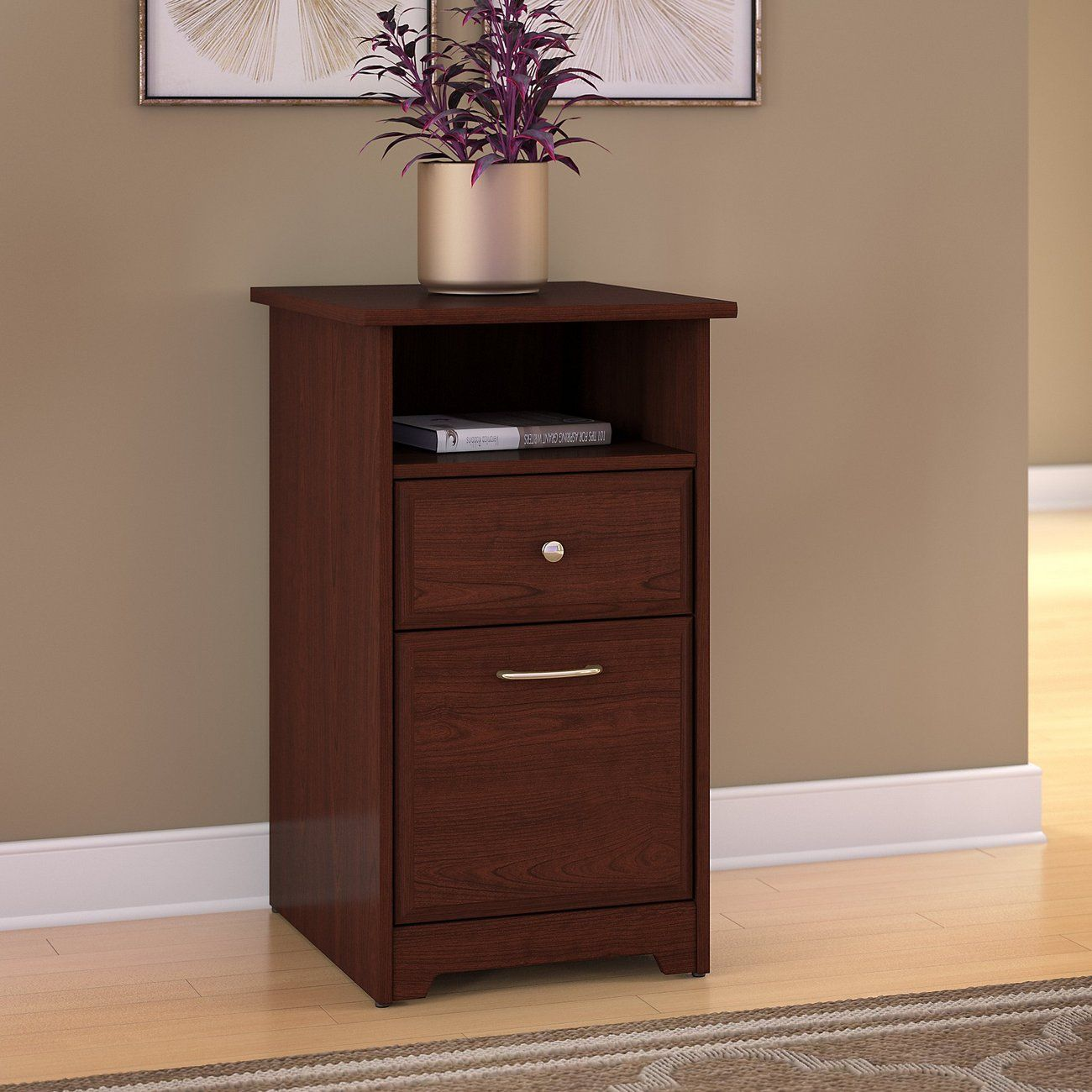 2 Drawer File Cabinet In Harvest Cherry