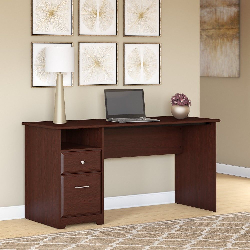 Cabot 42W Computer Desk with Drawers in Harvest Cherry - Bush Furniture  WC31442-42