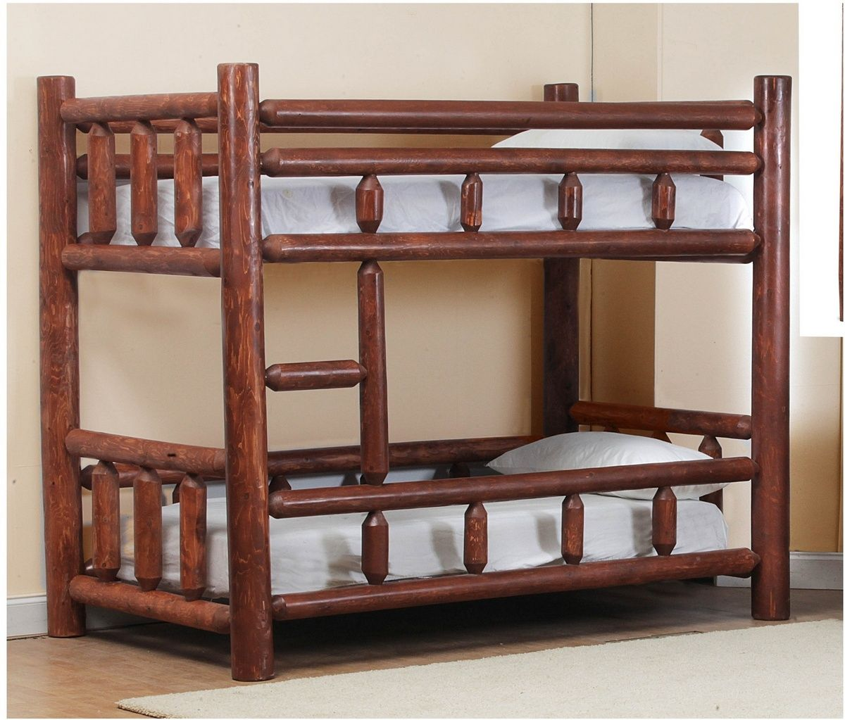 Picture of: Chilmark Twin Over Twin Log Bunk Bed Pecan Chelsea Home Furniture 85200 23838 Pec