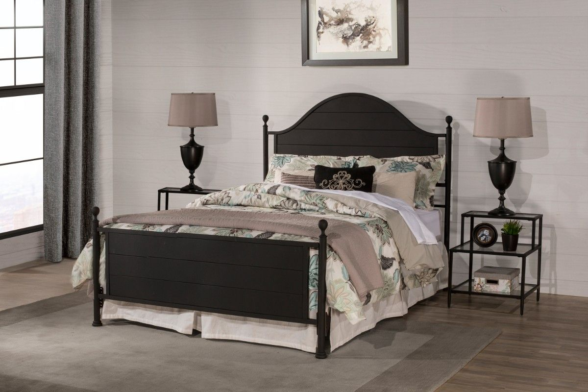 Cumberland King Headboard Footboard In Textured Black Rails Not Included Hillsdale 2113 660