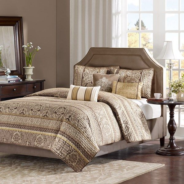 MP13-374 Madison Park 6 Piece Bayside Coverlet Set Full//Queen