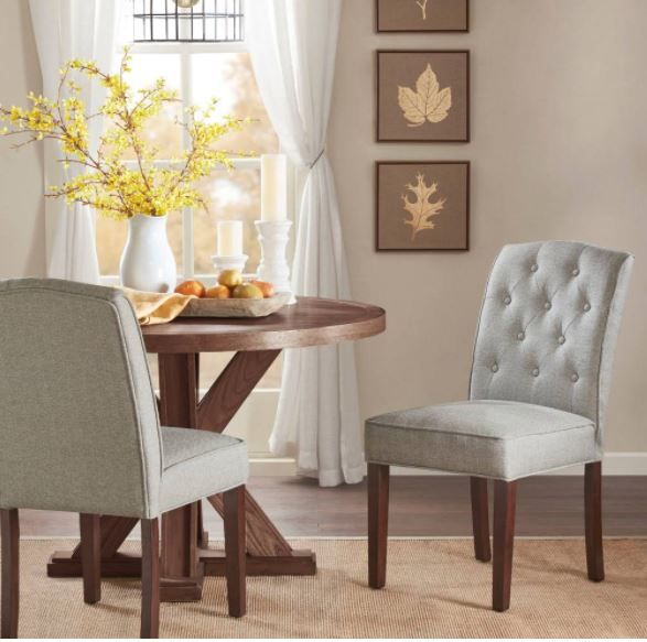 Madison Park Marian Tufted Dining Chair Set Of 2 In Cream Grey Olliix Mp108 0558