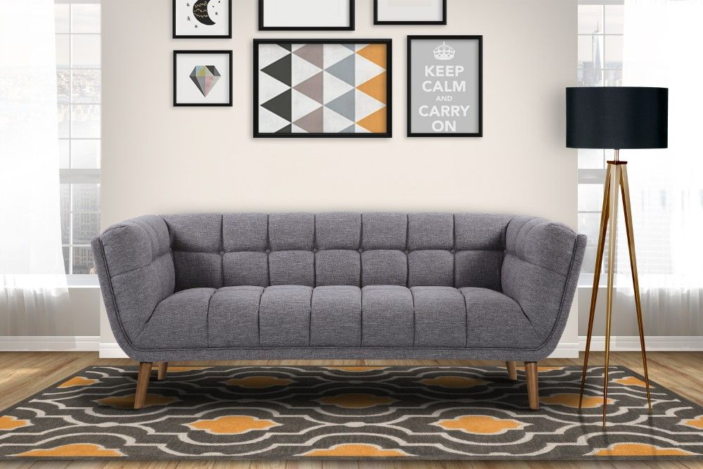 Phantom Mid Century Modern Sofa In Dark