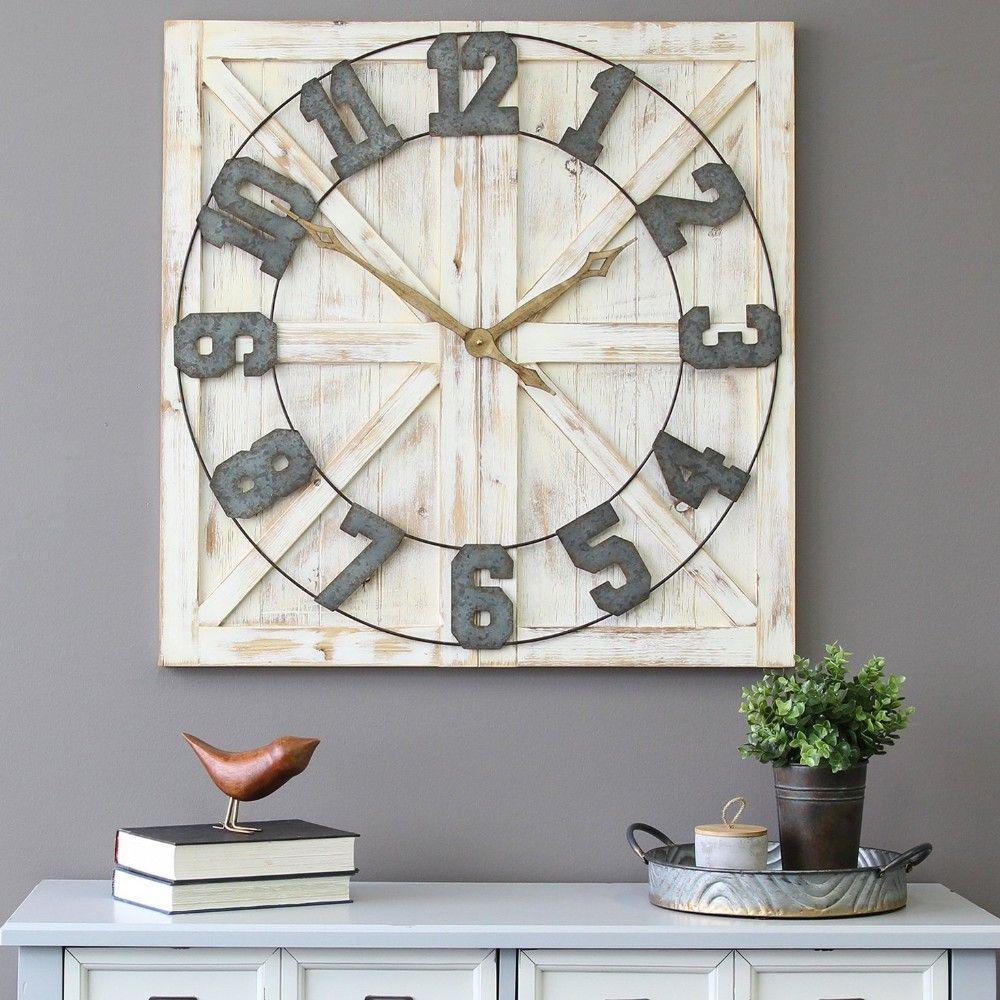 Rustic Farmhouse Wall Clock Stratton Home Decor S11545