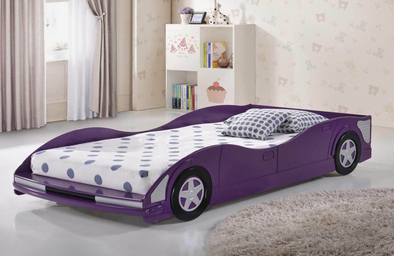 Twin Race Car Bed Purple Donco 4004 Tp