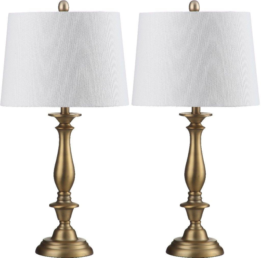 Brighton 29 Inch H Candlestick Table Lamp Set Of 2 Safavieh Lit4320a Set2