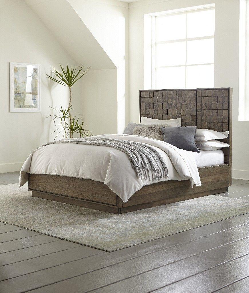 Berkeley Queen Size Solid Wood Platform Bed In Butcher Block