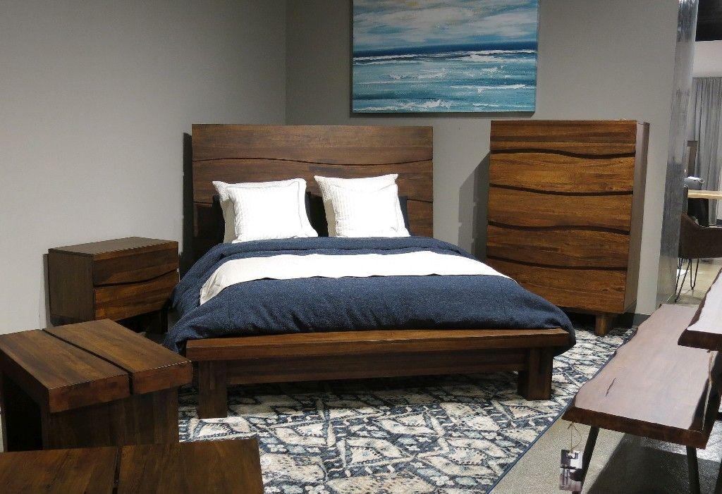 Ocean King Size Solid Wood Platform Bed In Natural Sengon Modus 8c79p7