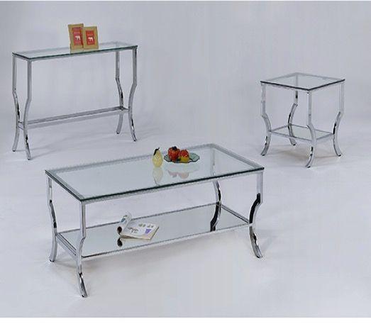Myer Chrome Sofa Table Myco 8722 St