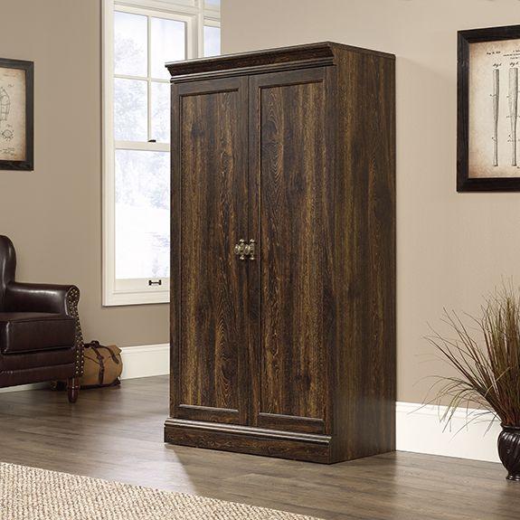 Barrister Lane Storage Cabinet In Iron Oak Sauder 422791