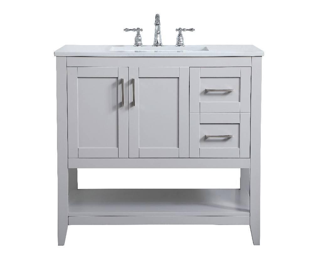 36 Inch Single Bathroom Vanity In Grey Elegant Lighting Vf16036gr