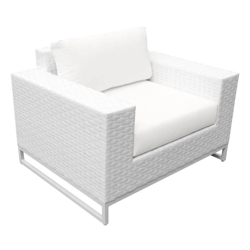 Miami 4 Piece Outdoor Wicker Patio, How To Clean White Wicker Outdoor Furniture