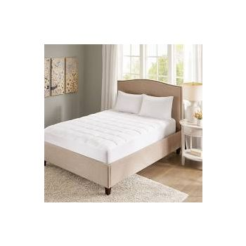 Madison Park Quiet Nights waterproof mattress cover cotton bed protector king white BASI16-0035