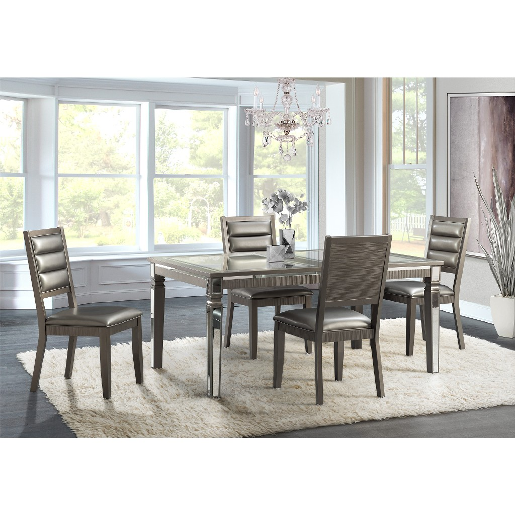 Picket House Furniture Dining Set Table Side Chairs Photo