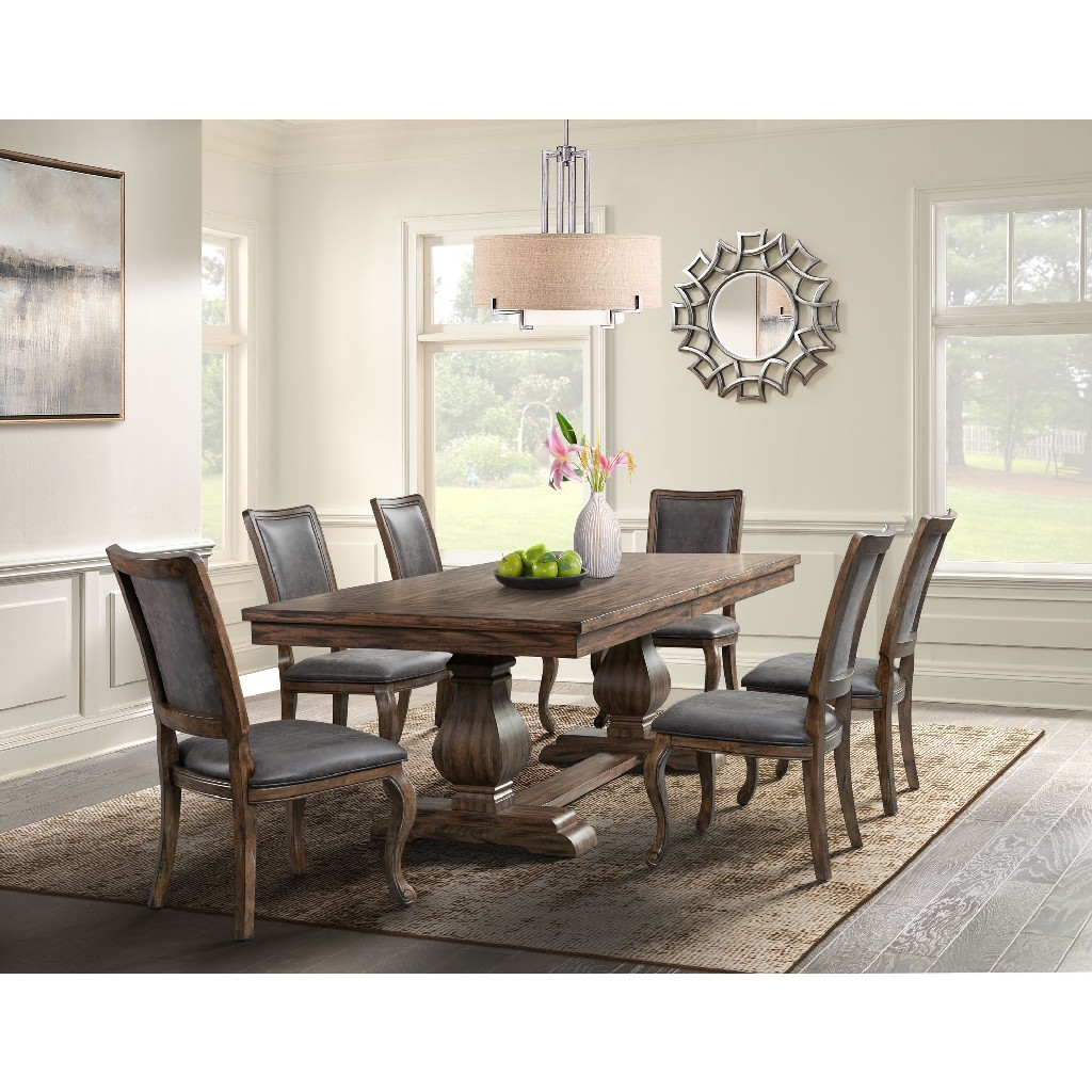 Dining Set Table Six Chairs