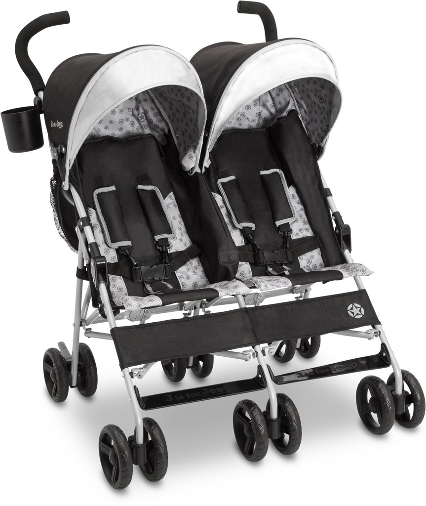 J is for Jeep Brand Scout Double Stroller Charcoal Galaxy - DT11708-2271