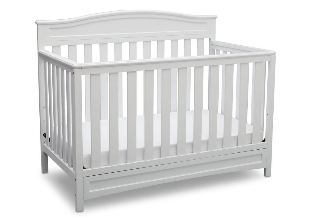 Delta Children Emery 4-in-1 Convertible Crib White - DT7380-100