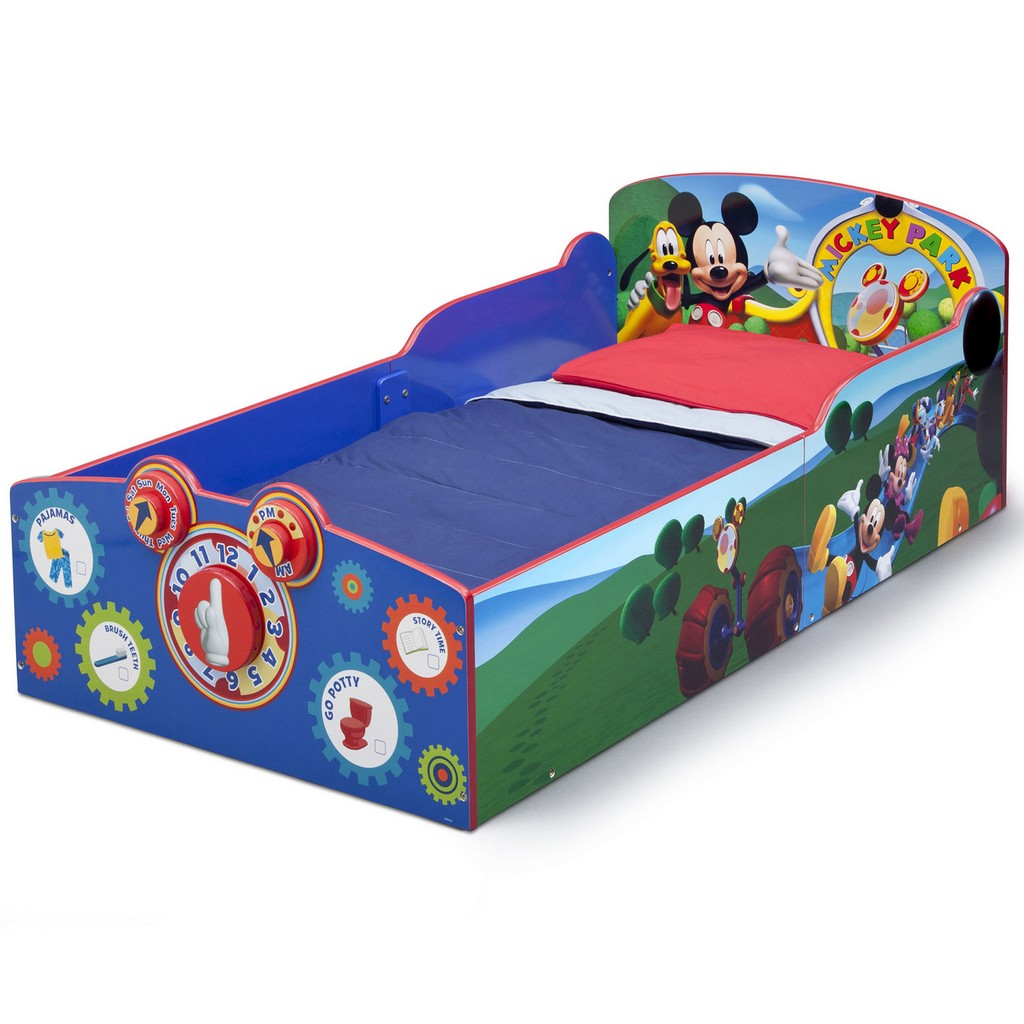 Delta Children Interactive Wood Toddler Bed Disney Mickey Mouse - DTBB86929MM-1051