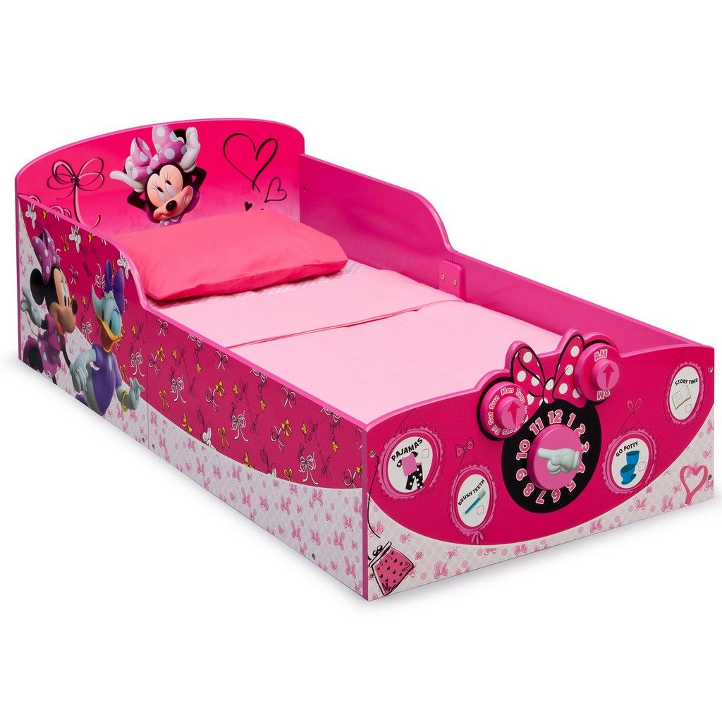 Delta Children Interactive Wood Toddler Bed Disney Minnie Mouse - DTBB86930MN-1061