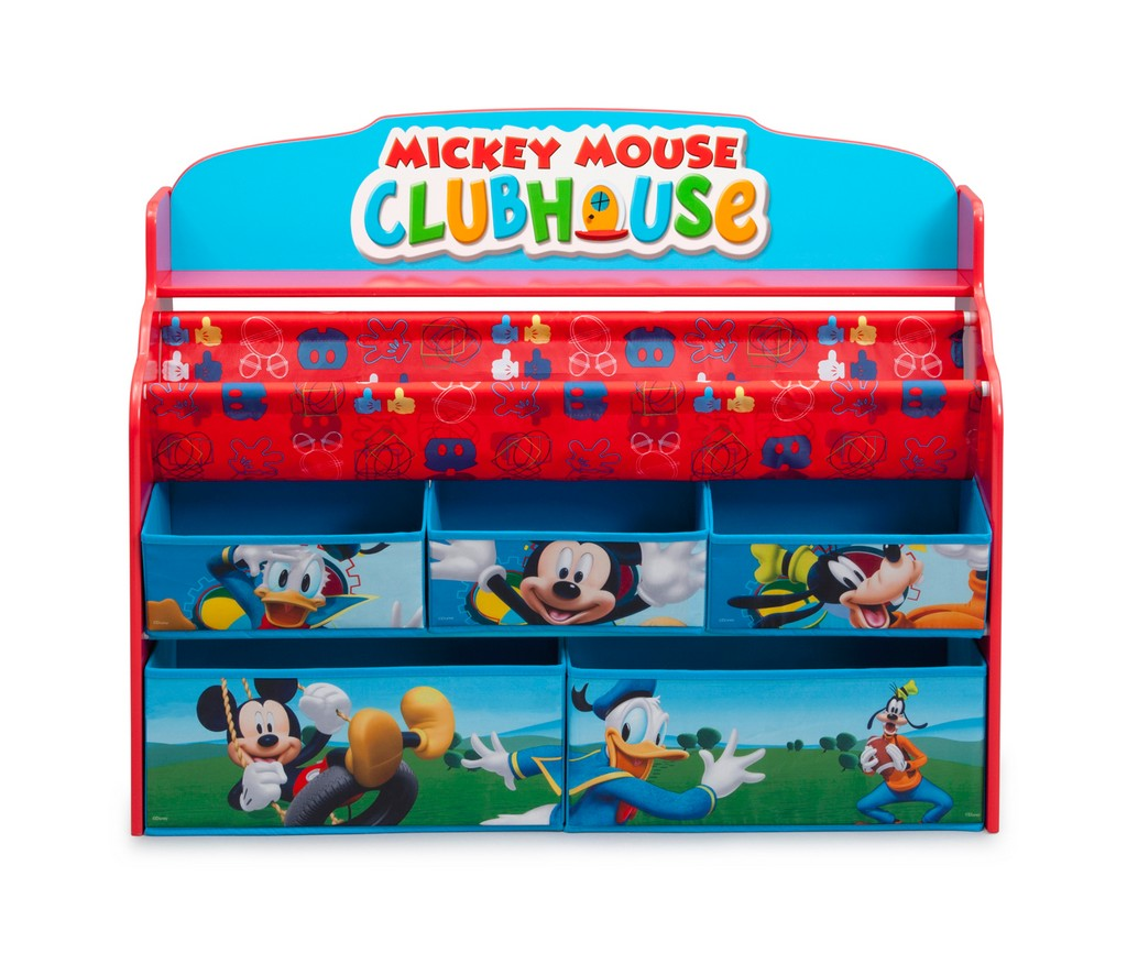 Delta Children Mickey Mouse Deluxe Book & Toy Organizer - DTTB84983MM