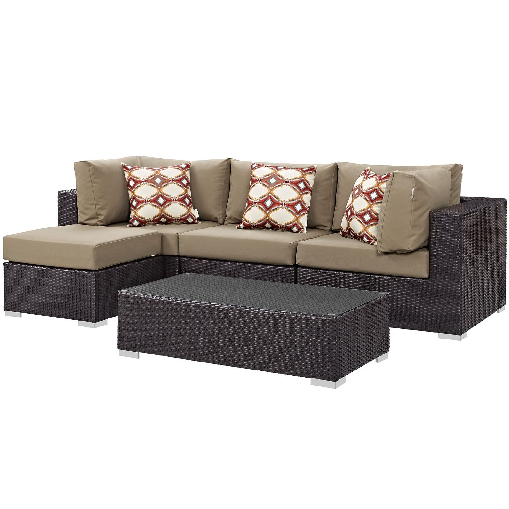 East End Imports Outdoor Patio Sectional Set Moc Set