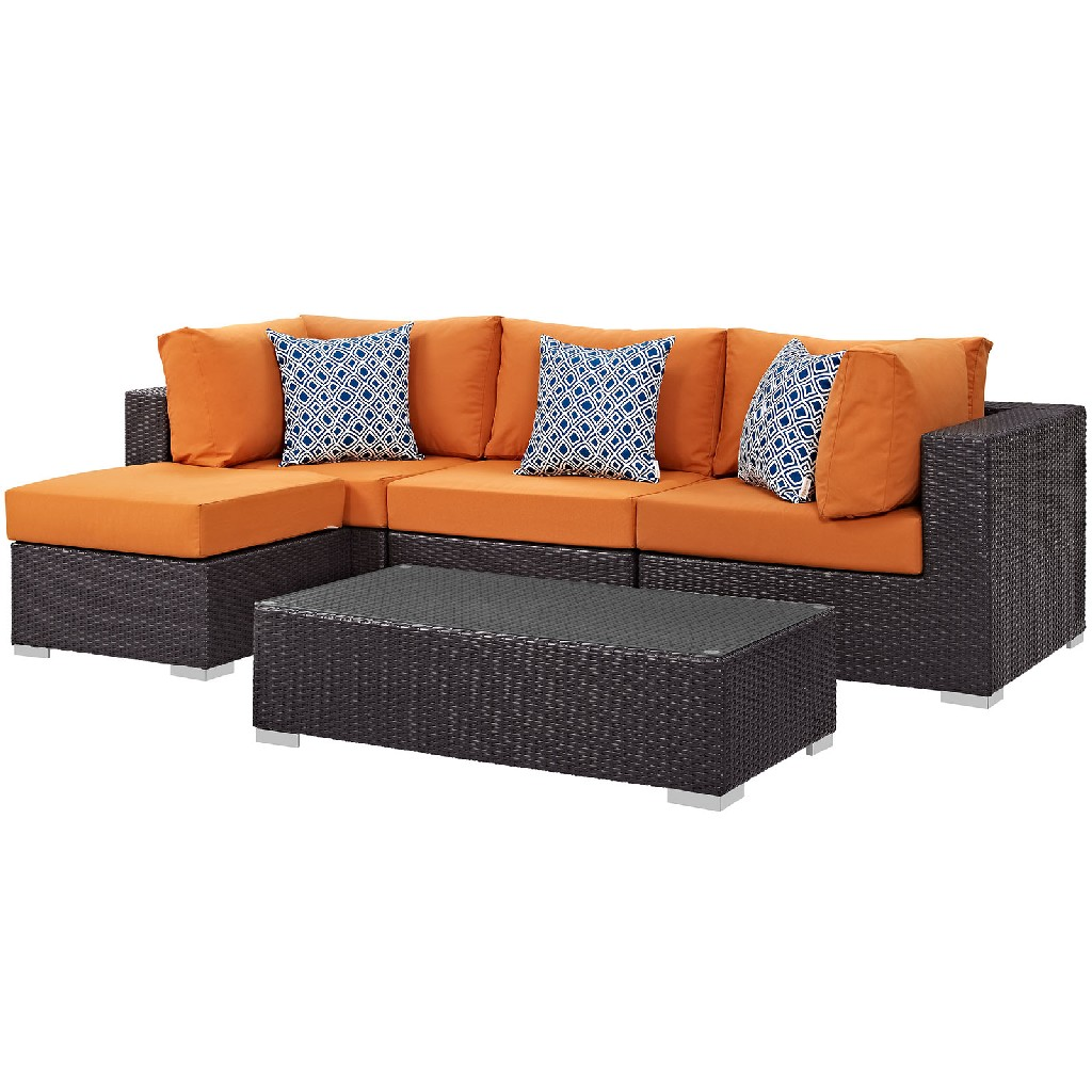 East End Imports Outdoor Patio Sectional Set Ora Set