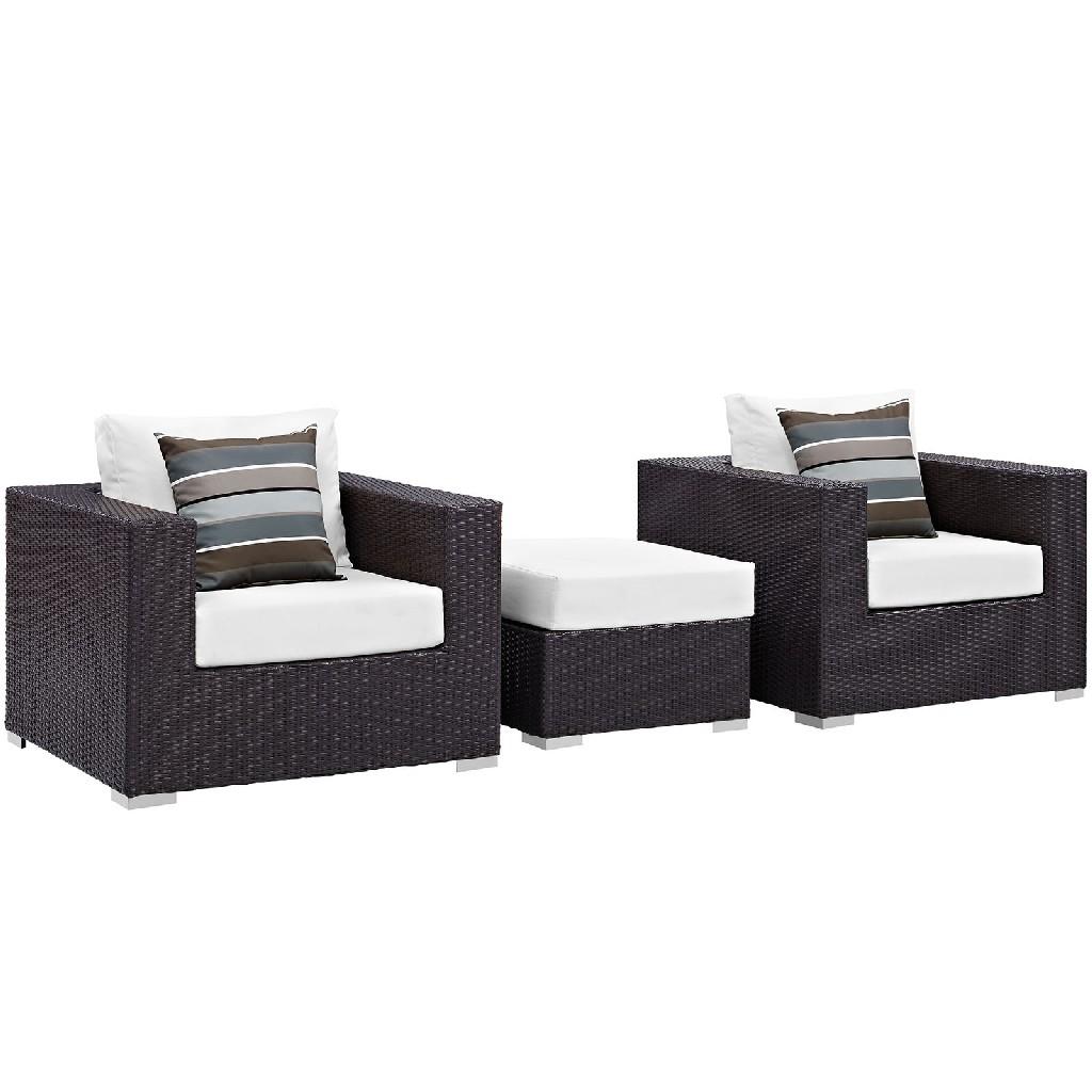 East End Outdoor Patio Sofa Set Exp Whi Set